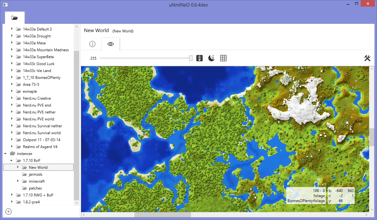uNmINeD   2D mapper   Minecraft Tools   Mapping and Modding: Java