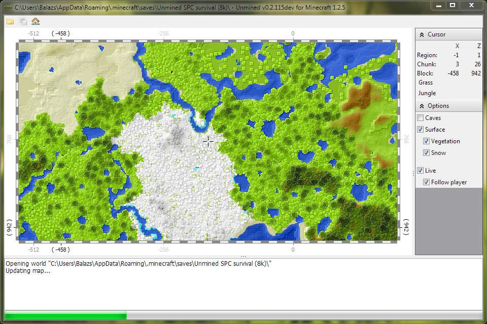Live map unmined live map feature of unmined updates visible region of map immediately when minecraft saves chunk data this happens periodically while playing publicscrutiny Image collections